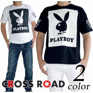 PLAYBOY プレイボーイ プリント Tシャツ 半袖 カットソー メンズ|crossroad24