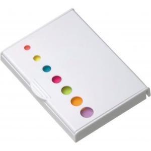 ケース販売のみ・100組単位でご注文下さい ペン付きケース入りふせん1組(白)  ・送料無料 ・粗品/販促品に最適! crossshop2