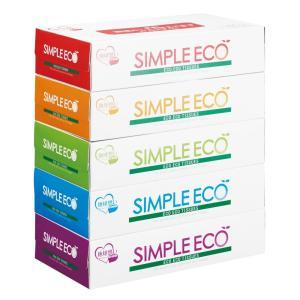 ケース販売のみ・60組単位でご注文下さい シンプルエコBOXティッシュ100W5個組  ・法人様限定商品 ・送料無料|crossshop2