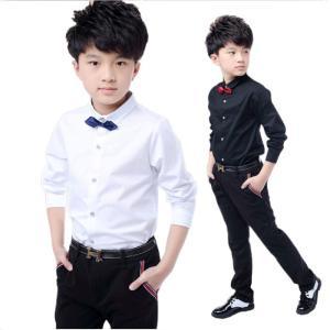 品名 :ベビー服 子供服 内容物:ワイシャツ  カラー:ホワイト、ブラック 素材:コットン100% ...