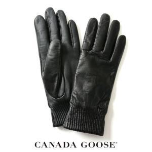 カナダグース CANADA GOOSE LEATHER RIB LUXE GLOVE レザー リブ グローブ ・5287L  送料無料|crouka