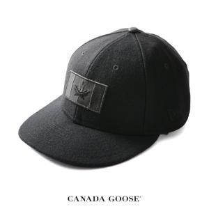 カナダグース CANADA GOOSE MELTON WOOL CAP メルトンウール キャップ ロゴ ニューエラ ・5326M  送料無料|crouka