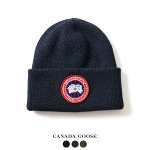 カナダグース CANADA GOOSE ARCTIC DISC TOQUE メリノウール ロゴ ニットキャップ ・6936L  送料無料|crouka