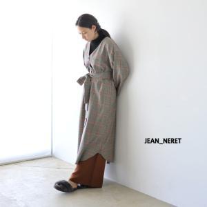 ジャンヌレ JEAN_NERET ベルト付き チェックシャツ ワンピース ・JNH-C046|crouka
