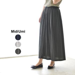 ミディウミ MidUmi ランダム プリーツ スカート ロングスカート ・2-760011 crouka