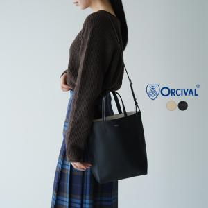 オーシバル オーチバル ORCIVAL 2way ショルダーバッグ トートバッグ スクエア型 無地 2021秋冬【予約商品】|crouka