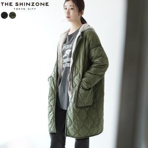 シンゾーン THE SHINZONE キルティング コート QUILTING COAT ロング ワイド ノーカラー 無地 日本製 ひょうたん型 2021秋冬 21AMSCO05|crouka