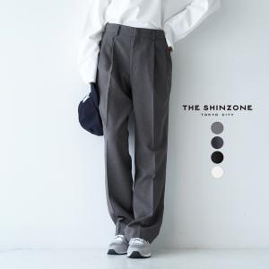 シンゾーン THE SHINZONE クライスラー パンツ CHRYSLER PANTS ハイウエスト センタープレス パンツ レディース 2021秋冬 21AMSPA01|crouka