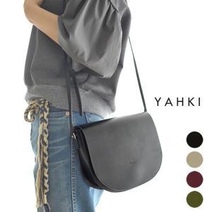 ヤーキ YAHKI ラウンドフォルム レザー ショルダー バッグ ・YH-131 crouka