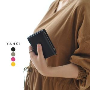ヤーキ YAHKI 3つ折りコンパクト ウォレット 財布 ・YH-207 父の日 ギフト crouka