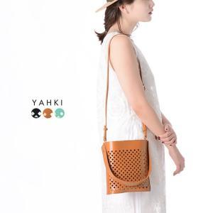 ヤーキ YAHKI レザーメッシュ ショルダーバッグ ハンドバッグ ・YH-236(30%off)(セール品、返品交換不可) crouka