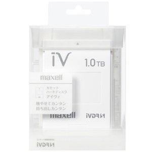 マクセル iVDR-S規格対応リムーバブルハードディスク 1.0TB ホワイト maxell カセット iV アイヴィ  M-VDRS1T.E.WH|crowded1381