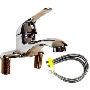 洗面台用 シングルレバー 混合 水栓 蛇口 給水フレキ管 50cm 2本セット 賃貸アパマンにも最適|crowded1381