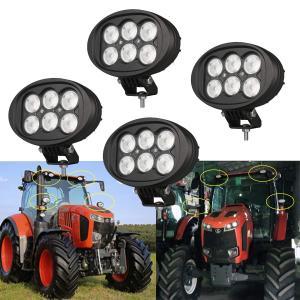 トラクター 作業灯 広角 60W LEDフォグランプ 作業照明 ブラケット DTコネクタキット付き LEDサブライト IP68防水 9-32VDC対応 角度調整可能 1年保証 4個 【Lig|crowded1381