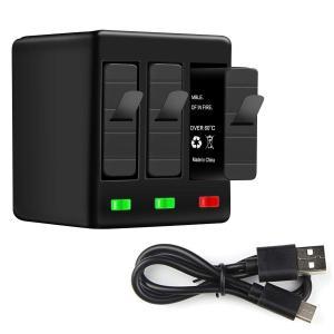 Vaimen GoPro バッテリー チャージャー 3ポートUSB充電器 3個バッテリー同時充電可能...
