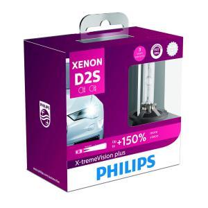 PHILIPS フィリップス ヘッドライト HID バルブ D2S 4800K 85V 35W エクストリームヴィジョンプラス XV2 Eマーク取得品 交換用 車検対応 3年保証 85122XV2X|crowded1381