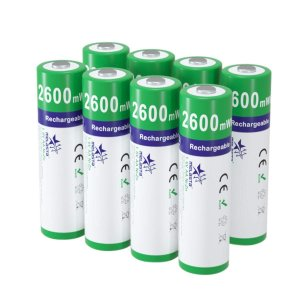 Melasta 単3形充電池 1.6V 充電式ニッケル亜鉛電池 8本入り 2600mWh Ni-Zn単三充電池 【500回以上循環使用可能】【1年保証】【ROHS、CE認証】|crowded1381