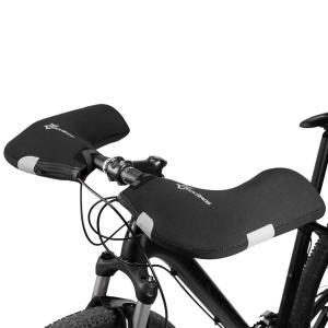 自転車ハンドルカバー 防寒 ハンドルウォーマー ROCKBROS ロックブロス サイクリング グローブ 通勤用バイク 防風 冬用 防水 左右セット|crowded1381