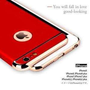 iPhone6Plus ガラスフィルム 付き iPhone6 ケース カバー iPhone X 10 6s Plus 耐衝撃 アイフォン スマホケース おしゃれ 携帯カバー 3in1slimmat Red|crown-shop