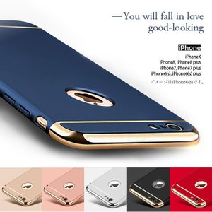 iPhone6s ガラスフィルム 付き iPhone6 ケース カバー iPhone X 10 6s Plus 耐衝撃 アイフォン スマホケース おしゃれ 携帯カバー  3in1slimmat|crown-shop