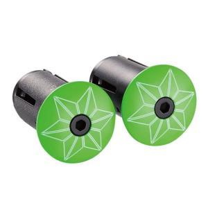 supacaz  (スパカズ) STAR PLUGZ powder coated ネオングリーン エンドキャップ|crowngears