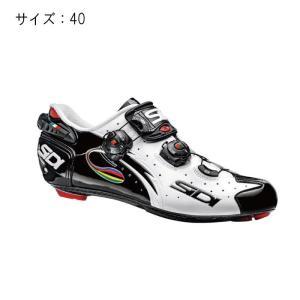 SIDI (シディ)  2016年モデルWIRE LCD ビンディングシューズ ホワイト/ブラック/イリーデ サイズ40 【自転車】|crowngears