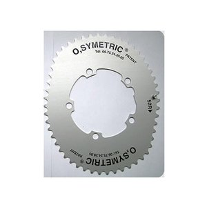 O.SYMETRIC(オーシンメトリック) チェーンリング コンパクト 52T PCD110 ブラック crowngears