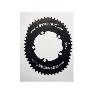 O.SYMETRIC(オーシンメトリック) チェーンリング コンパクト 50T PCD110 ブラック crowngears