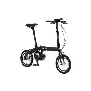 TRANS MOBILLY(トランスモバイリー) ULTRA LIGHT ウルトラライト E-BIKE AL-FDB140E ブラック 14インチ 折畳 電動自転車 crowngears