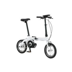 TRANS MOBILLY(トランスモバイリー) ULTRA LIGHT ウルトラライト E-BIKE AL-FDB140E ホワイト 14インチ 折畳 電動自転車 crowngears