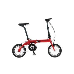 TRANS MOBILLY(トランスモバイリー) ULTRA LIGHT ウルトラライト E-BIKE AL-FDB140E レッド 14インチ 折畳 電動自転車 crowngears
