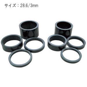 MR.CONTROL(ミスターコントロール) カーボンスペーサー 28.6/3mm ヘッドパーツ|crowngears