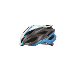 OGK (オージーケー) STEAIR ステアー レディース パールホワイトブルー サイズS/M スリム ヘルメット crowngears