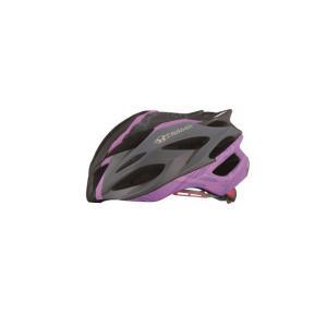 OGK (オージーケー) STEAIR ステアー レディース マットブラックパープル サイズS/M スリム ヘルメット crowngears