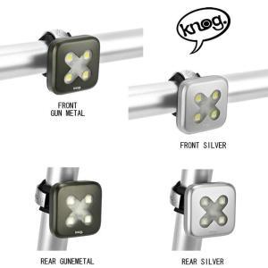 KNOG (ノグ)Blinder Lights-4 ブラインダー LED ライト クロス リア シルバー 【ライト】|crowngears