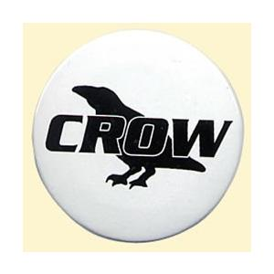 CROWオリジナルロゴ入りカンバッチ☆CROWカンバッチ/CROW(クロウ)バイク用アクセサリー crowracing2