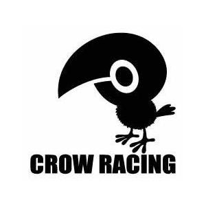 CROWオフィシャルステッカー #CS-004 / ステッカー デカール シール ヘルメット バイク 車 携帯電話 スーツケース 通販 キャラクター ロゴ 文字 英語 アルファ|crowracing2