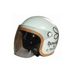 フラワーシールド フラワージェットヘルメット専用シールド フラワージェットシールド DAMMTRAX DAMMFLAPPER ダムトラックス ダムフラッパー バイク|crowracing2