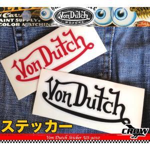 VON DUTCH MOTORS ボンダッチ モータース ロゴ ステッカー US-9010 /デカール シール ヘルメット バイク 車 携帯電話 スーツケース 通販 crowracing2