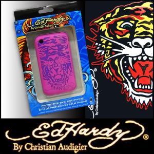 Ed Hardy エドハーディー iphoneケース 3G 3GS Tiger ピンク2 iフォン ラバー ケース エド ハーディー エドハーディ ChristianAudigier  携帯 アクセサリー正規 crs