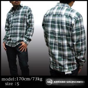 AG Jeans メンズ 長袖 コットン チェックシャツ グ...