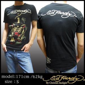 エドハーディー メンズ Tシャツ Ed Hardy PANTHER ブラック エド・ハーディー 正規...