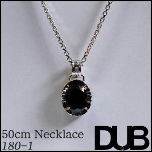 DUB Collection 180_1 ネックレス ブラック キュービック ジルコニア メンズ レ...