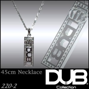 DUB Collection 220-2 ネックレス Dighity Necklace ホワイト メ...