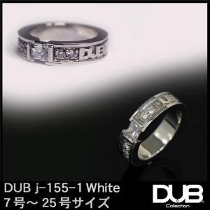 DUB ジュエリー リング 155-1 シルバー ホワイト アクセサリー メンズ レディース ダブジ...