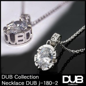 DUB Collection j180-2 Side Emblem Stone ネックレス ホワイト...