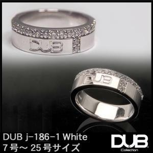 DUB Collection j186-1 ホワイト シルバー リング RING ダブジュエリー シ...