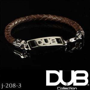 DUB Collection j-208-3 メンズ レザー ブレスレット Plane open w...