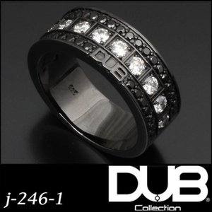 DUB Collection j-246-1(BK) Bicolor Ring メンズ レディース ...