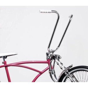 自転車 ハンドル  15インチ ハンドルバー クローム 自転車部品 パーツ 交換 部品 改造 アップ...